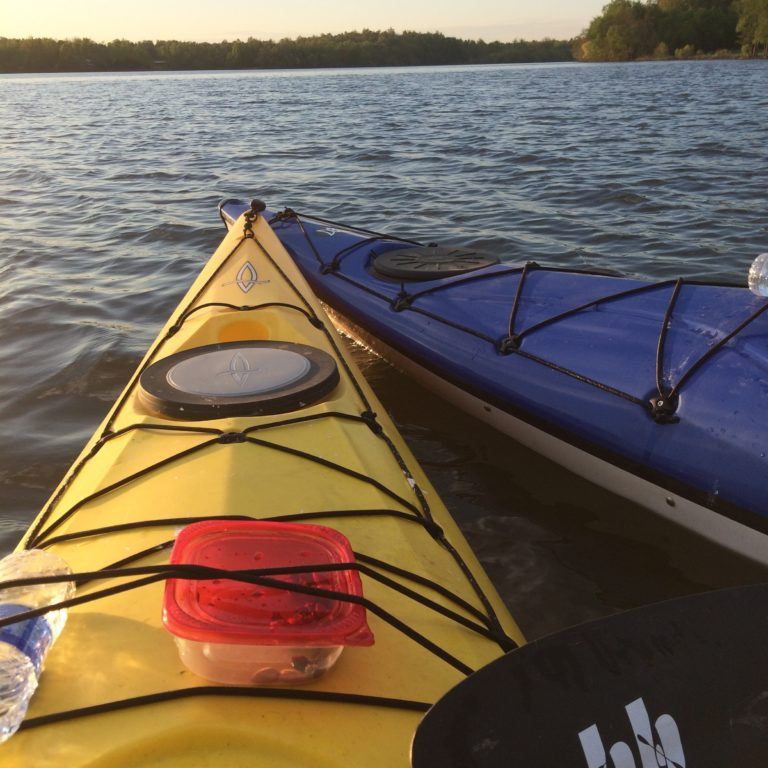 Kayaking at Mahr Park Arboretum in Madisonville, KY